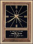 American Walnut Vertical Wall Clock with Square Face. (BC257)